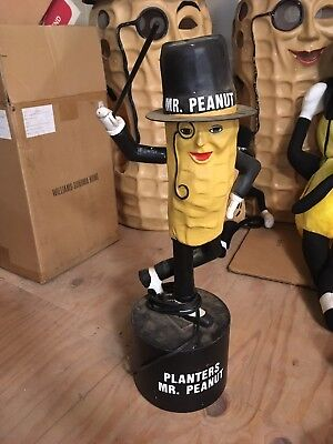 1980s REPRODUCTION MR PEANUT MOTION 120V MR TAPPER AWESOME VINTAGE PLANTERS