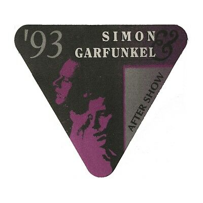 Simon & Garfunkel authentic 1993 tour Satin cloth Backstage Pass Original