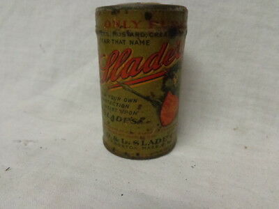 1910's Spice Tin, Soldered Can, Paper Label, Slade's Mace, Colorful Label, Ex