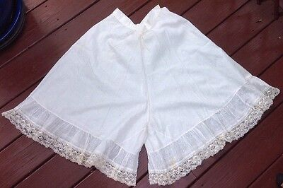 Antique Vintage Bloomers Pantaloons With Lace Cuffs