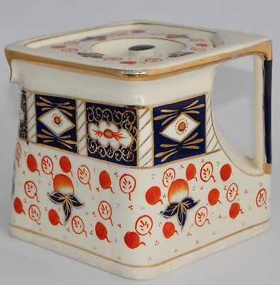 Vintage George Clews IMARI Cube/Square/Diamond Shaped Tea Pot - Unusual! (1.1L)