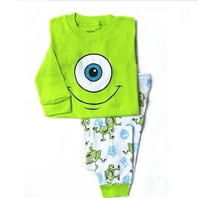 2017 Monster University boys pajamas set 2T Baby kids sleepwear nightclothes