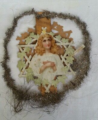 Antique Angels Retro Collectable Rare Collectable Christmas Feather Tree Topper