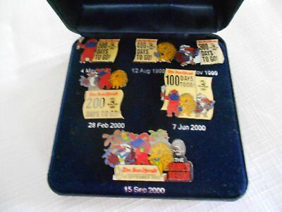 Sydney 2000 Olympic Pins Sun Herald Countdown collection