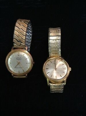 """Original Mens Watches Lot-(2) 9""""-Benrus Automatic(works) & Tarleton-Round Faces"""