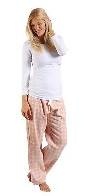 BNWT Pink/White Maternity & Nursing Pyjama Set Size S (10) winter pjs pants top