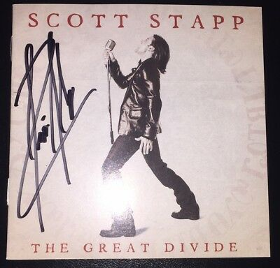 """Creed-Scott Stapp Personally Signed/autographed """"great Divide"""" Cd Cover!"""