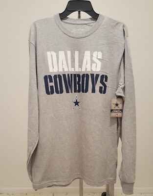 NFL Dallas Cowboys Long Sleeve Gray T-Shirt Officially Licensed Mens LARGE  NWT 2aef938a2