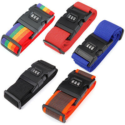 2 Pack Luggage Security Strap Suitcase Packing Belts with Password Lock Clip