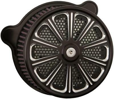 HardDrive Custom Air Cleaner Assembly Black Luck #F2120A-ACTBW Harley Davidson