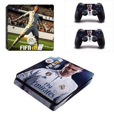 Fifa 18 FC CR Ronaldo PS4 Slim Console Skin Decals Vinyl Stickers Decals Covers
