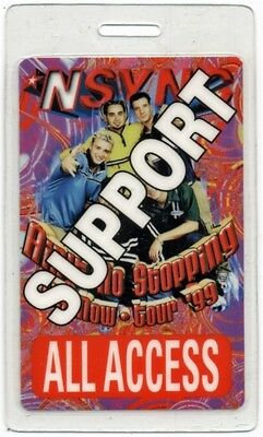 N Sync authentic 1999 concert tour Laminated Backstage Pass