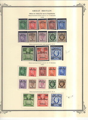 Great Britain Tripolitania / China Overprints On Album Pages 1916 To 1951!