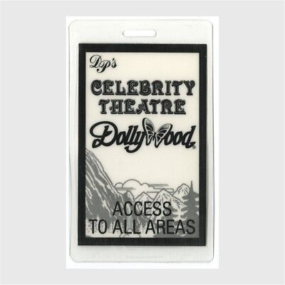 Dolly Parton authentic Laminated Backstage Pass Celebrity Theatre Dollywood AA