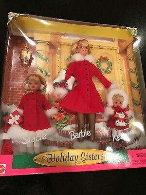 Barbie Holiday Sisters Gift Set Nrfb Stacie, Kelly