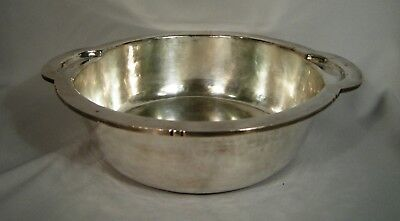 Rare Hand Hammered Large Dirk Van Erp Silver Plated Arts & Craft Bowl