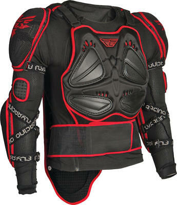 Fly Racing Barricade Long Sleeve Body Armor Suit Black/Red Medium