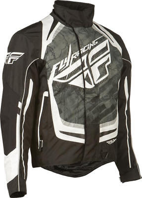 Fly Racing SNX Pro Snow Jacket Black/White Small