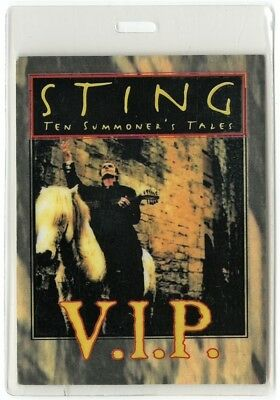 Sting authentic 1993 Laminated Backstage Pass Ten Summoner's Tales Tour Police