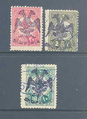 Albania 1913 Eagles With Counterfeit Overprints Very Fine Mint/used.