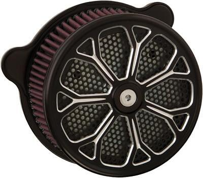 HardDrive Custom Air Cleaner Assembly Black Revolver #F2122A-ACTBW