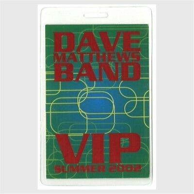 Dave Matthews Band authentic 2002 concert tour Laminated Backstage Pass Summer