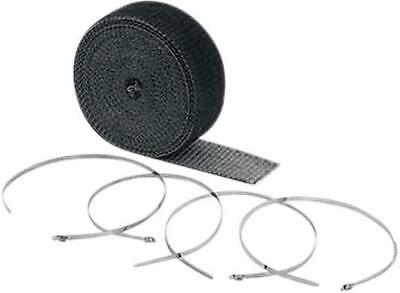 "Accel High-Temperature Exhaust Wrap Kit Black 2"" x 25'"