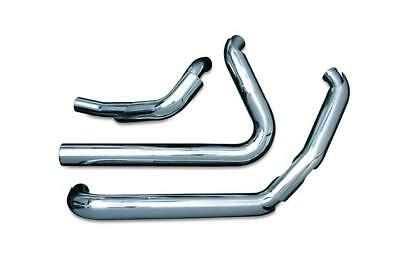 Crusher True Dual Headpipes Chrome #516 Harley Davidson