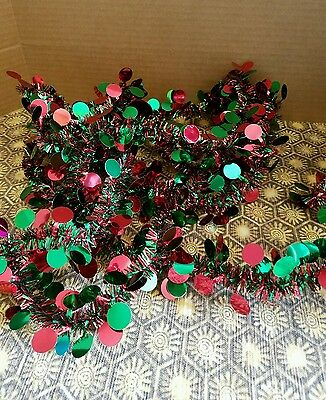 Christmas tinsel garland-C