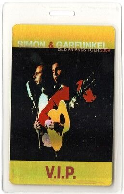 Simon & Garfunkel authentic 2009 Laminated Backstage Pass Old Friends Tour VIP