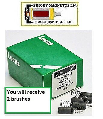 Lucas BTH Magneto K1F K2F MO1 brushes ( 1 pair) with springs. Good quality.