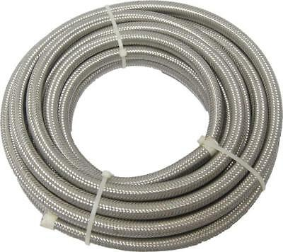 "HardDrive Stainless Steel Braided Oil/Fuel Hose 3/8""-25ft"