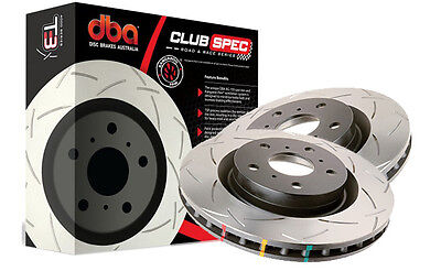 DBA Pair of T3 4000 Series Slotted FRONT Rotors 355mm FPV FG BA BF F6 GT