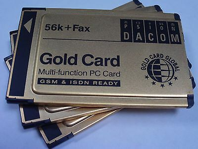 3x PSION DACOM Gold Card Multi-Function PC Card (P/N S99-2318-2) OEM