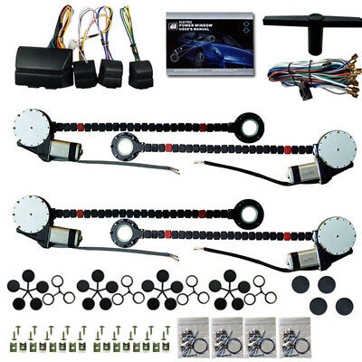 Universal 4 Doors Car Window Lifter Electric Power Window Conversion Kits DC12V