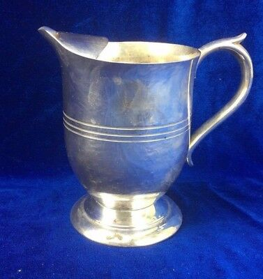 VINTAGE  SARACEN  REPRODUCTION  SILVER PLATED  JUG   13cm. HIGH