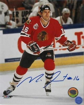Michel Goulet Chicago Blackhawks Signed/Autographed 8x10 Photo SI