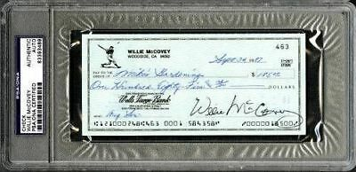 Willie McCovey San Francisco Giants Signed PSA/DNA Slabbed Check 83393489