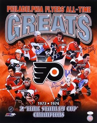 Philadelphia Flyers All-Time Greats 10 Players Signed 16x20 Photo JSA