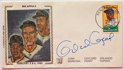 Orlando Cepeda San Francisco Giants Signed First Day Cover