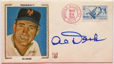 Al Dark New York Giants Signed First Day Cover