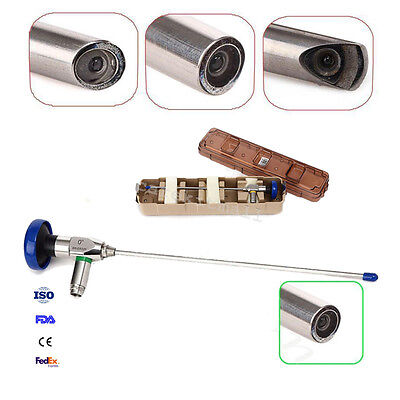 0° Degree Endoscopy 4x302mm Hysteroscope Cystoscopy Connector Fit Storz Olympus
