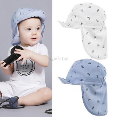 Newborn Infant Baby Boy Girl Detachable Neck Protection Sun Hat Soft Cap