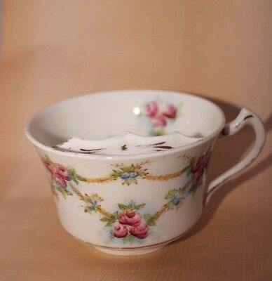 Royal Stafford China England Moustache cup Floral 7cm high approx  B29