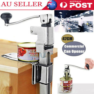 Heavy Duty Large 47CM  Commercial Can Opener Counter Bench Top Cast Steel Table