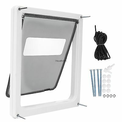 "Large Dog Door Pet Door Extra Large 17""x14"" Flap Telescoping Frame Gate Secure@"