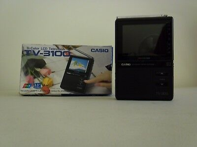 "Rare Vintage Casio TV-3100 3.3"" LCD Screen Handheld Colour Television"