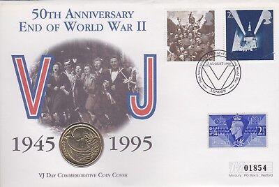 Gb Stamps 1995 Vj Day Cover £2 Coin Special From Collection