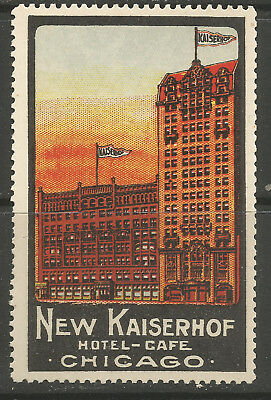 USA/IL Chicago New Kaiserhof Hotel-Cafe poster stamp/label