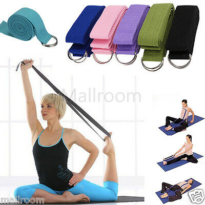 Cotton Yoga Strap Training Belt Fitness Exercise Gym 180cm metall-verschluss